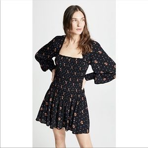 Free People | Two Faces Smocked Floral Dress